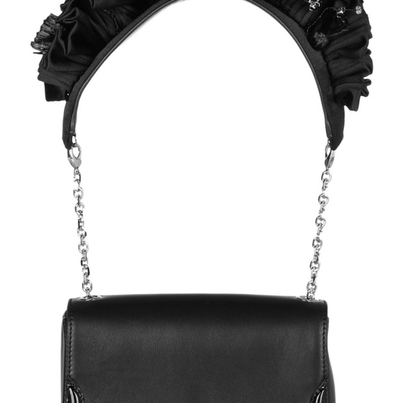 133fd099a9a Christian Louboutin Artemis Ruffled Leather Purse